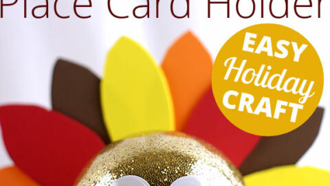 DIY Tutorial: Craft a Turkey Place Card Holder for your Thanksgiving Table
