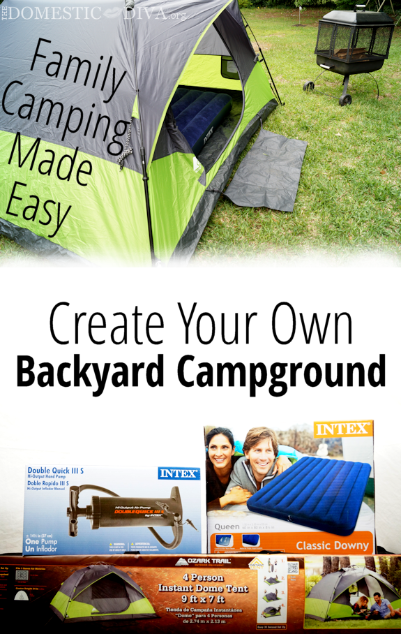 Create Your Own Backyard Campground:  Family Camping Made Easy with Ozark Trail 4 Person Instant Dome Tent (Review)