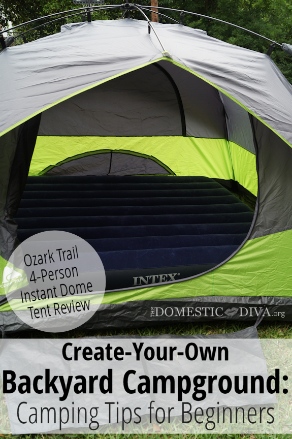 Create Your Own Backyard Campground:  Ozark Trail 4 Person Instant Dome Tent Review