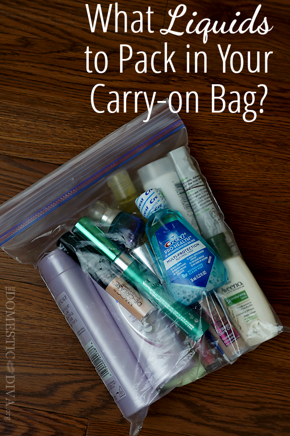 What Liquids to Pack in Your Carry-on Bag