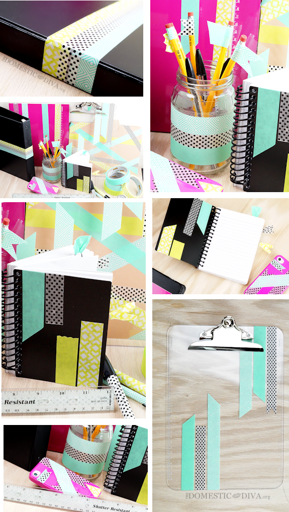 9 School Supplies to Decorate with Washi Masking Tape