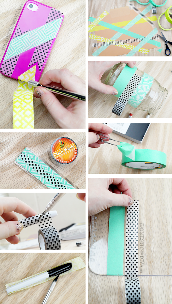 Personalize Back to School Supplies with Washi Masking Tape