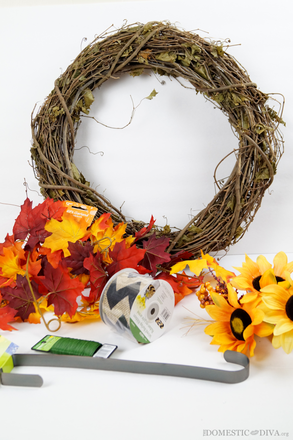 Fall wreath supplies at Walmart
