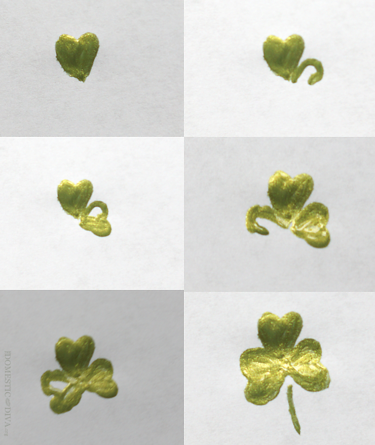 How to Paint Clovers onto a Vase for a St. Patrick's Day Floral Arrangement for your Table using supplies from Walmart
