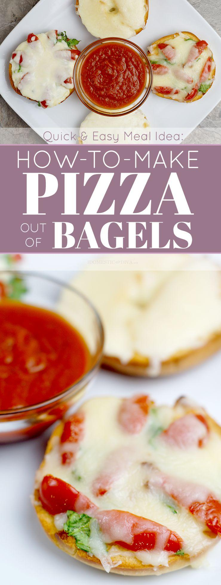 Quick and Easy Meal Idea: How to Make Pizza Out of Bagels (Recipe)