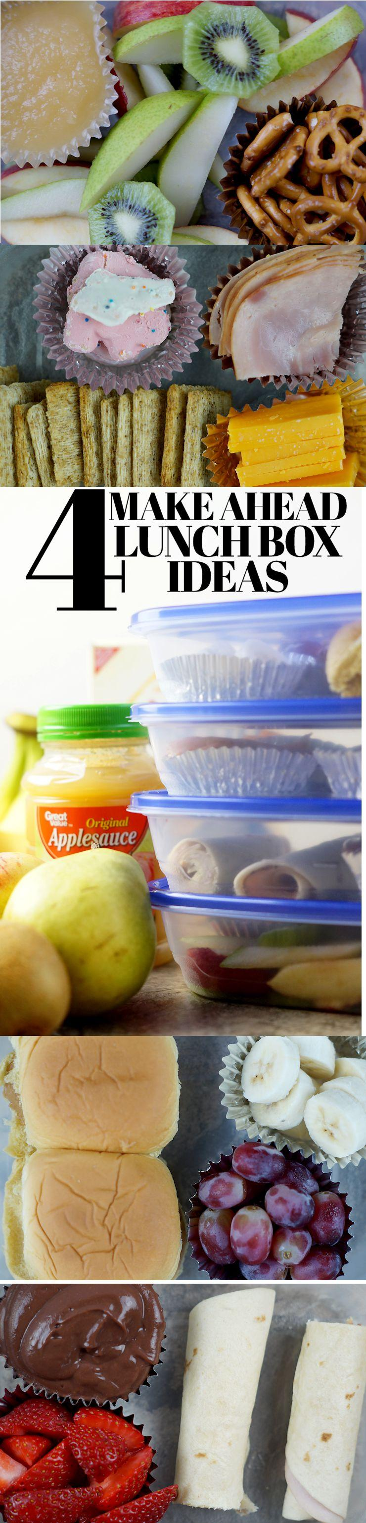 4 Make Ahead Lunch Box Ideas for Back to School