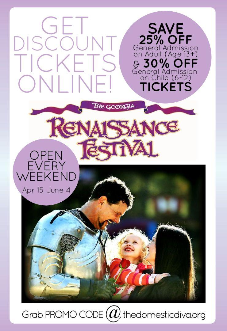 Promo Code to Save on Admission - Georgia Renaissance Festival Ticket Discounts 2017