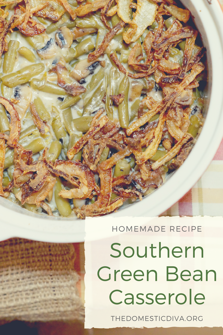 Homemade Southern Green Bean Casserole Recipe - Ditch the canned stuff for this delicious, completely from scratch green bean casserole recipe. Your classic green bean casserole recipe gets a makeover using fresh, real ingredients for an authentic homemade taste.