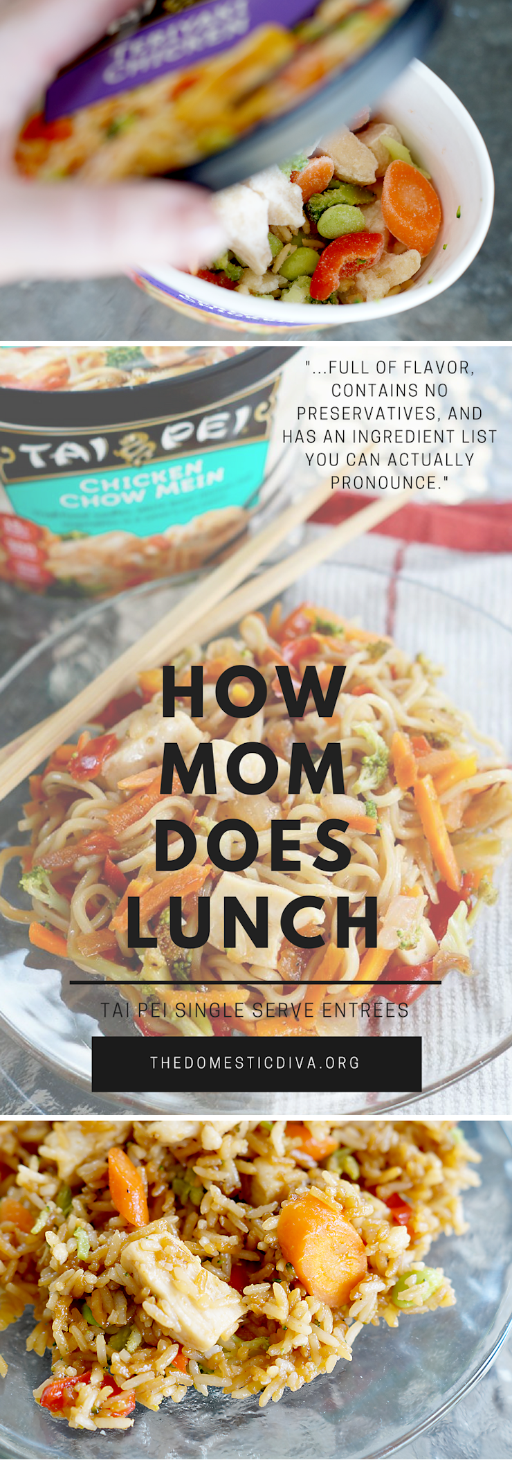 How Mom Does Lunch with Tai Pei Frozen Single Serve Entrees (review plus giveaway) #homeschool #mom #lunch #quicklunchideas