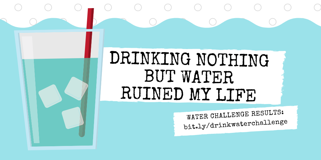 Drinking Nothing but Water Ruined My Life: Water Challenge Results