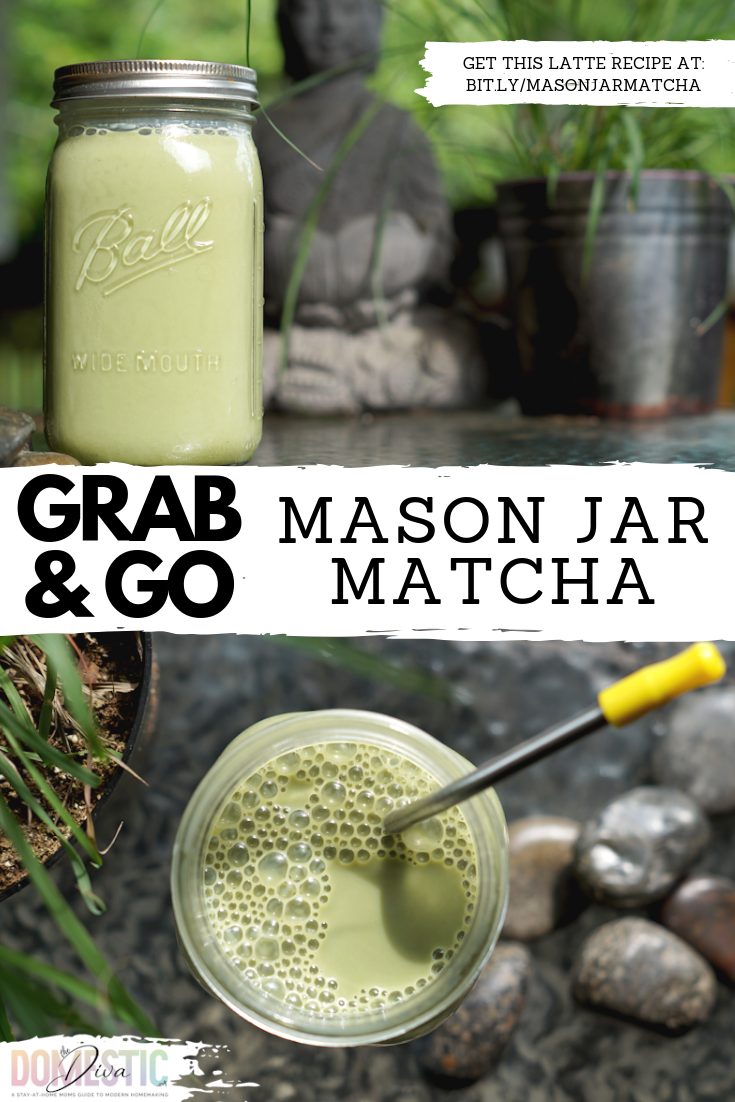 Grab and Go Mason Jar Matcha Latte Recipe