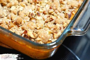 Southern Sweet Potato Casserole with Pecan Streusel Topping